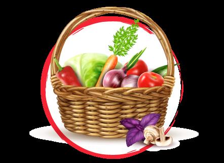 Cesta de verduras ecológicas a domicilio