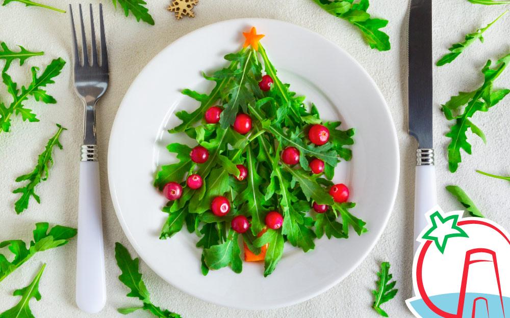 Entrantes de verduras para Navidad